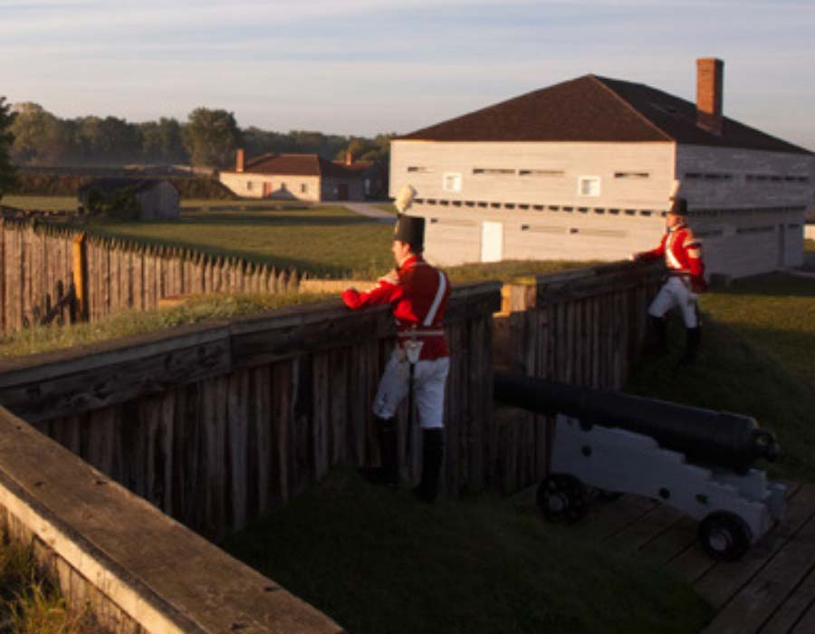 Visiting Fort George in Niagara-on-the-Lake