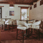Lounge seating at Headwaters Lounge & Patio at Millcroft Inn & Spa in Caledon