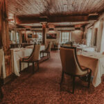 Warm ambience and fine art in Headwaters Restaurant at Millcroft Inn & Spa in Caledon