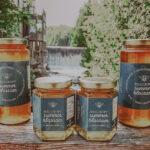 Jars of summer blossom honey made at Millcroft Inn & Spa in Caledon