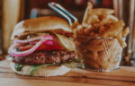 Gourmet Burger and Fries from Churchill Lounge at the Prince of Wales Hotel