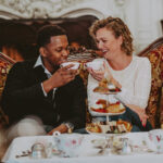 Couple dining at whimsical tea room at the Prince of Wales Hotel on Niagara-on-the-Lake