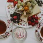 Traditional English tea and fruits from the Drawing Room at the Prince of Wales Hotel