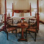 Antique furnishings in the Superior Guest Room at the Prince of Wales Hotel