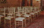 View of guest seating in Hampton Court wedding venue at the Prince of Wales Hotel in Niagara-on-the-Lake