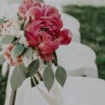 Floral wedding aisle design at the Pillar & Post Hotel wedding venues in Niagara-on-the-Lake