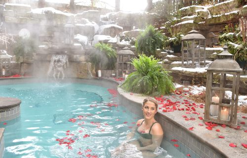 Romantic Hot Spring Pools at Pillar and Post in Niagara-on-the-Lake]
