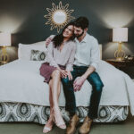 Couple spending the night in a stylish hotel room at Inn On The Twenty in Jordan Village