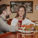 Couple dining in Jordan House Tavern at Jordan House in Jordan Village