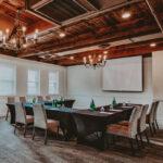 Rustic meeting room with full amenities at Inn On The Twenty in Jordan Village