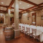 Unique subterranean wine cellar for private dining at Inn On The Twenty in Jordan Village