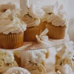 Custom selected floral cupcakes catered to weddings at Inn On The Twenty in Jordan Village
