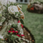 Floral arrangements at the lush countryside wedding venues in Millcroft Inn & Spa in Caledon