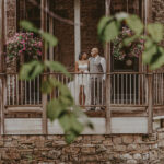 Newlyweds at vintage-inspired aesthetic wedding venues at Millcroft Inn & Spa in Caledon