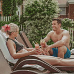 Couple enjoying easy access to amenities at the Pillar & Post Hotel in Niagara-on-the-Lake