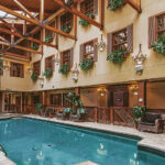 Indoor wellness pool at the Pillar & Post Hotel in Niagara-on-the-Lake