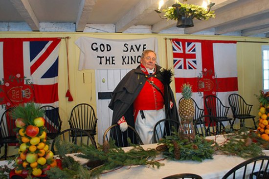 Garrison Christmas at Fort George in Niagara
