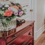Flower arrangement in guest rooms at Inn On The Twenty in Jordan Village
