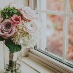 Bridal bouquet on wedding day at Inn On The Twenty in Jordan Village