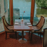Headwaters Restaurant window seating at Millcroft Inn & Spa in Caledon