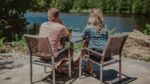 Couple dining on patio at Headwaters Lounge & Patio at Millcroft Inn & Spa in Caledon