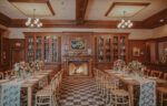 Olde Library venue for wedding receptions with rectangular seating at the Pillar & Post Hotel in Niagara-n-the-Lake