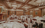Olde Library venue for wedding receptions with circular seating at the Pillar & Post Hotel in Niagara-n-the-Lake