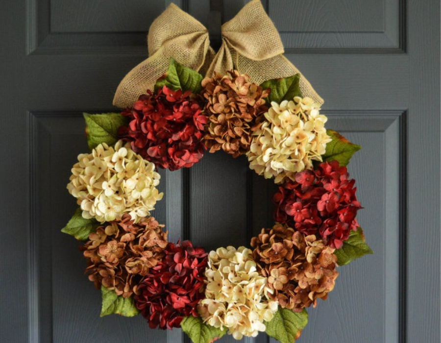 DIY Fall Door Wreath from Clippings Floral Design