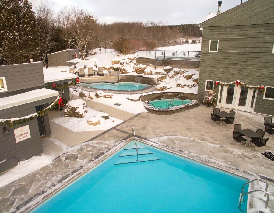 Hot Spring Pools at Millcroft Inn and Spa a Winter Activity