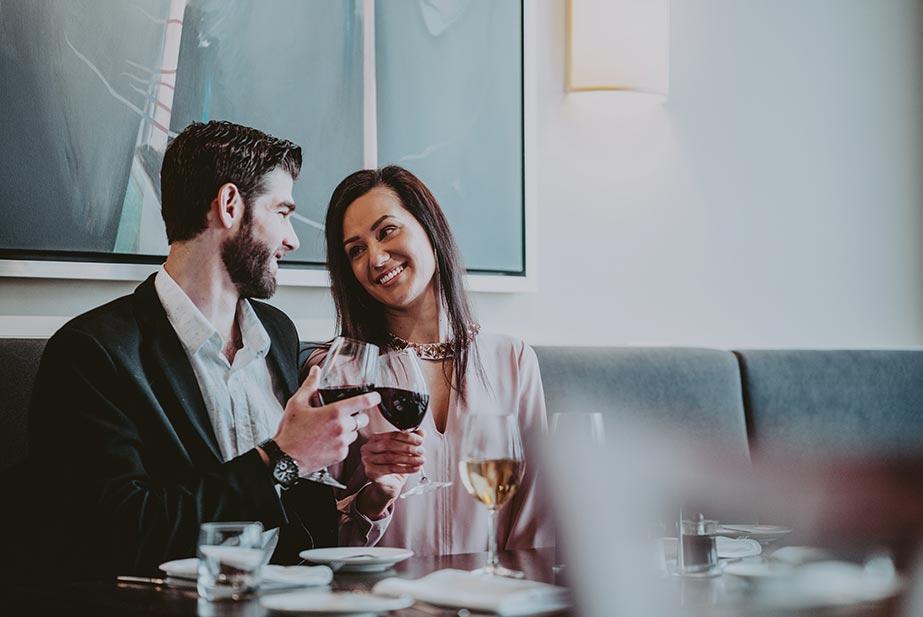 A couple enjoys a Niagara Wines at Inn on the Twenty in Jordan, ON