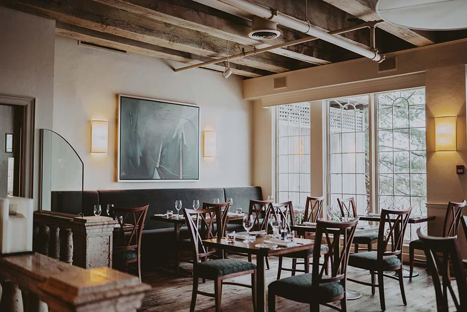 The dining room at Inn on the Twenty in Jordan Village