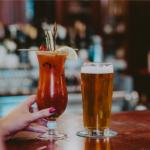 Women enjoys a caesar cocktail at Jordan House Tavern