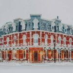 The Prince of Wales Hotel in Niagara on the Lake decorated festively