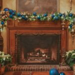 A festive hearth at Pillar and Post Hotel in Niagara on the Lake