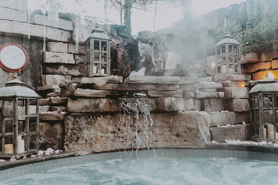 Hot Spring Pool at Pillar & Post in Niagara-on-the-Lake