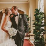 A romantic wedding at Queen's Landing in Niagara on the Lake