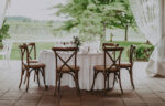 wedding table overlooking the vineyard at chateau des charmes