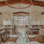 Wedding table at the Barns at Cave Spring Vineyard