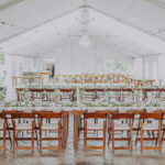 Tent wedding set up at Sue Ann Staff Estate Winery