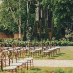 La Roserie wedding venue guest seating at Pillar & Post Hotel in Niagara-on-the-Lake