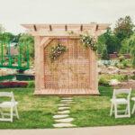 Le Petit Pavillion wedding venue decor at Pillar & Post Hotel in Niagara-on-the-Lake