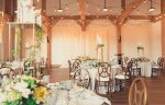 Rustic and romantic wedding reception venue at the Barn at the Pillar & Post Hotel in Niagara-on-the-Lake