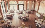 Aerial view of the Barn wedding reception venue at the Pillar & Post Hotel in Niagara-on-the-Lake