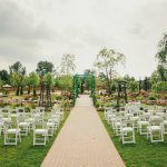 Back aisle view of Pont du Mont wedding venue at the Pillar & Post Hotel in Niagara-on-the-Lake